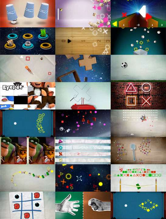 A selection of minigames from PS3 The Game